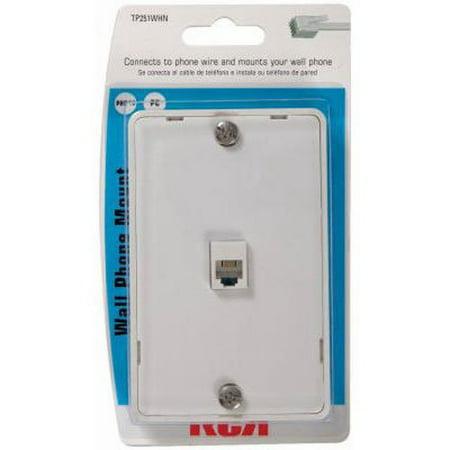 Audiovox TP251WHN White Phone Wall Jack