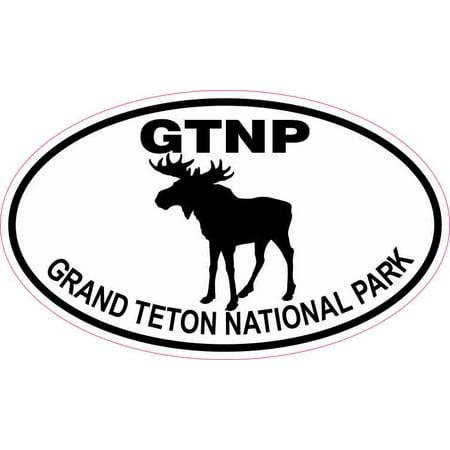 5in x 3in Moose Oval Grand Teton National Park Sticker ()