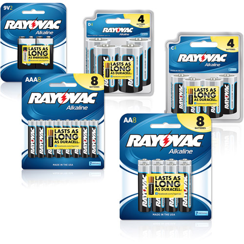 Rayovac 26-Count Battery Combo Pack, AAA, AA, C, D and 9V&nbsp