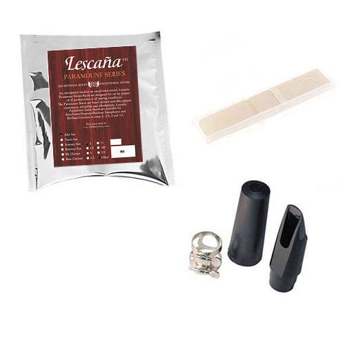 Lescana Paramount Series 50 Pack Alto Saxophone Reeds, 50 Pack Music Teacher Bundle (Strength 2) + Bonus M&L Mouthpiece Kit