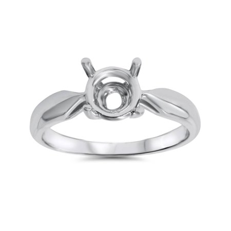 (Engagement Ring Solitaire Mounting 14K White Gold)