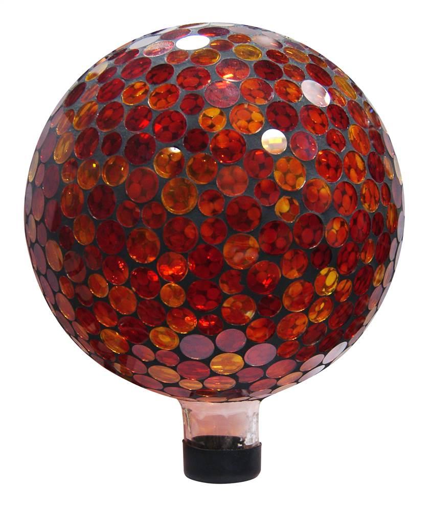 Round Mosaic Gazing Ball by Benzara Inc