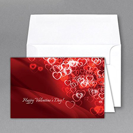 Jumbo   Valentines Day   Card   Envelope  Card Size 8 5 X 11 When Open   5 5 X 8 5 Inches When Folded   Scored For Easy Folding   2 Per Pack   Small Scattered