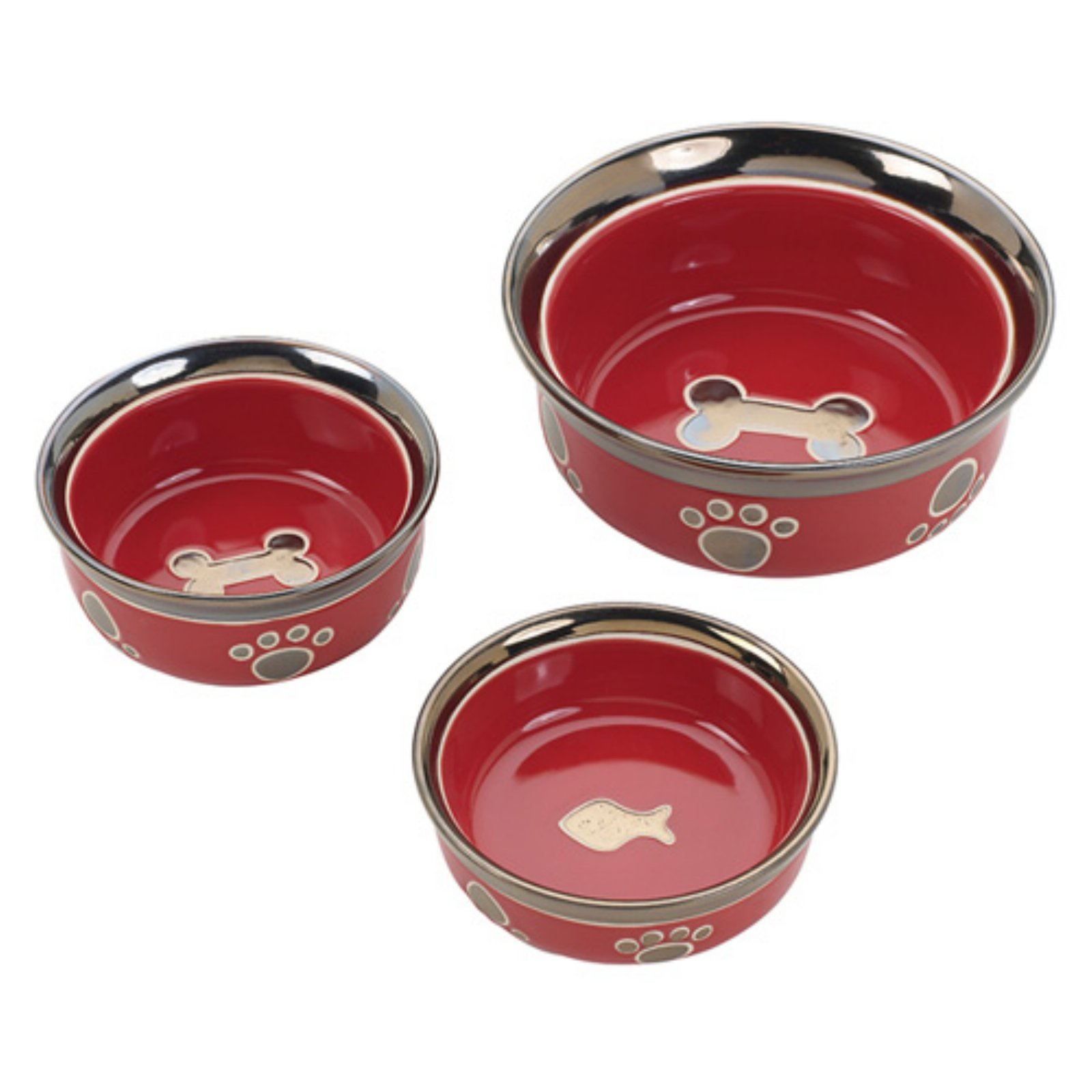 Ethical Pet Ritz Copper Rim Pet Dish
