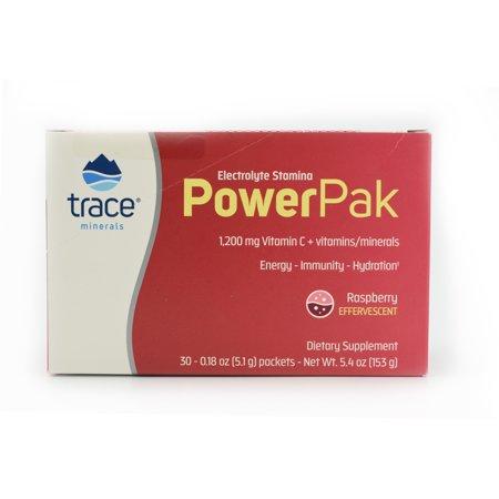 Electrolyte Power Pak (Trace Minerals Electrolyte Stamina Power Pak Packets, Raspberry, 30 Ct)