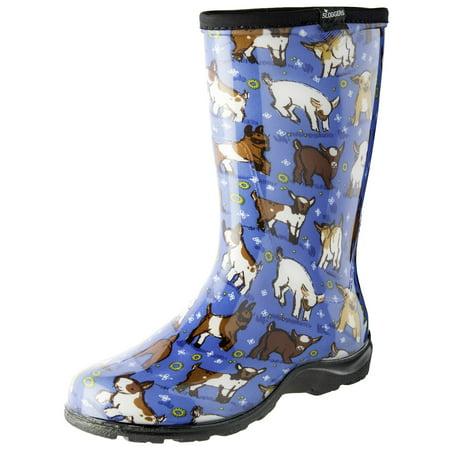 Thor 07 Quadrant Boots - Sloggers 5018GOBL07 Size 7 Women's Goats Sky Blue Rain & Garden Boots