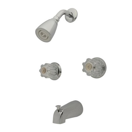 Brass Two Handle Tub - Kingston Brass Americana Two Handle Tub and Shower Faucet