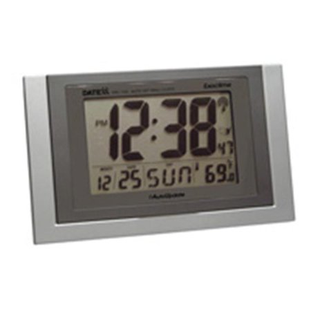 Radio Controlled Outdoor Wall Clock (Radio Control Wall Clock with Month  Day  Date Temperature )