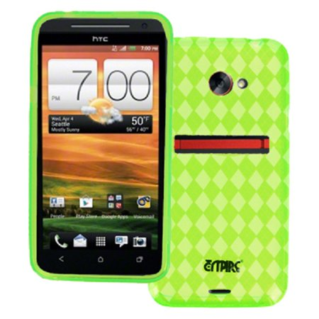 - EMPIRE HTC EVO 4G LTE Poly Skin Case Cover (Neon Green Diamond Pattern) [EMPIRE Packaging]