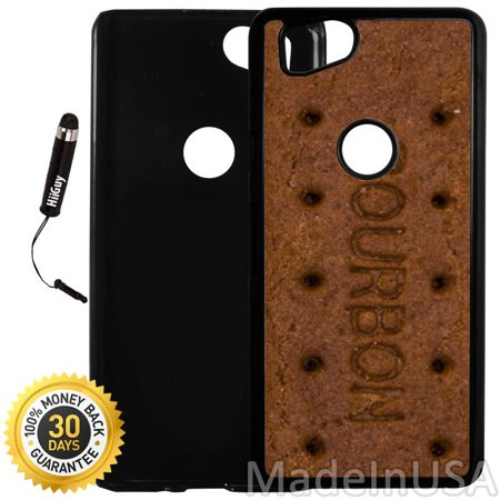 Black Bourbon (Custom Google Pixel 2 Case (Bourbon Biscuit Bar) Plastic Black Cover Ultra Slim | Lightweight | Includes Stylus Pen by Innosub )