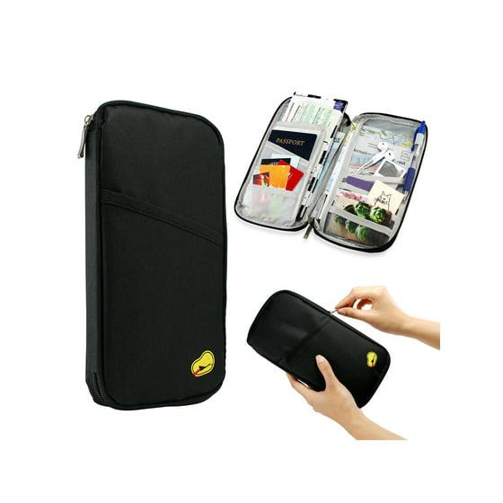 e7ba1b68edb Gearonic - Travel Trip Passport Credit ID Card Cash Organizer Wallet Purse  Holder Case Document Bag - Walmart.com