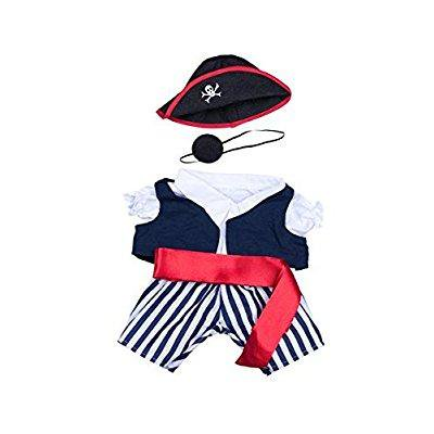 pirate outfit fits 8 - 10 inch webkinz, shining star and make your own stuffed animals and dolls