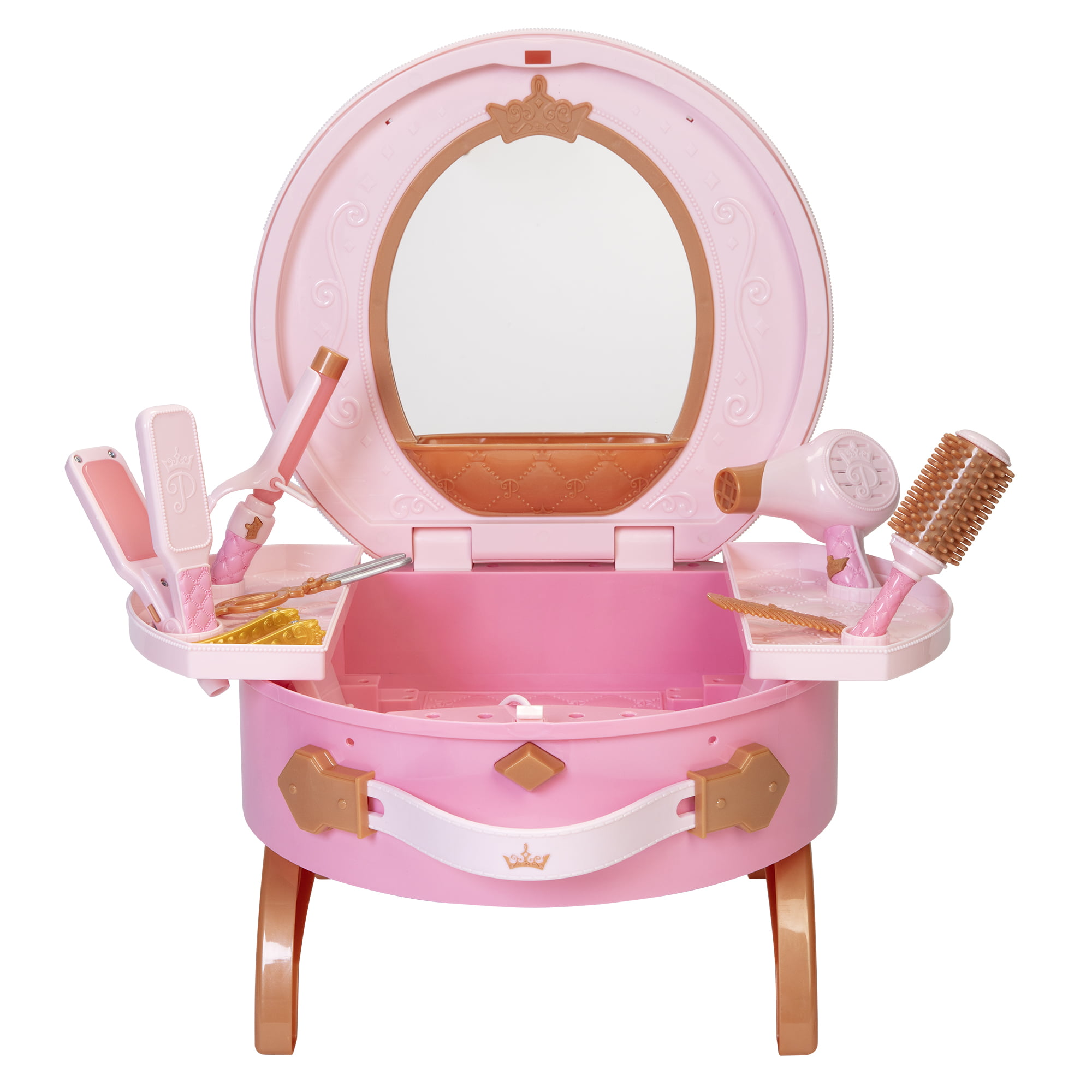 Disney Princess Style Collection Light Up And Style Vanity Walmart Com Walmart Com