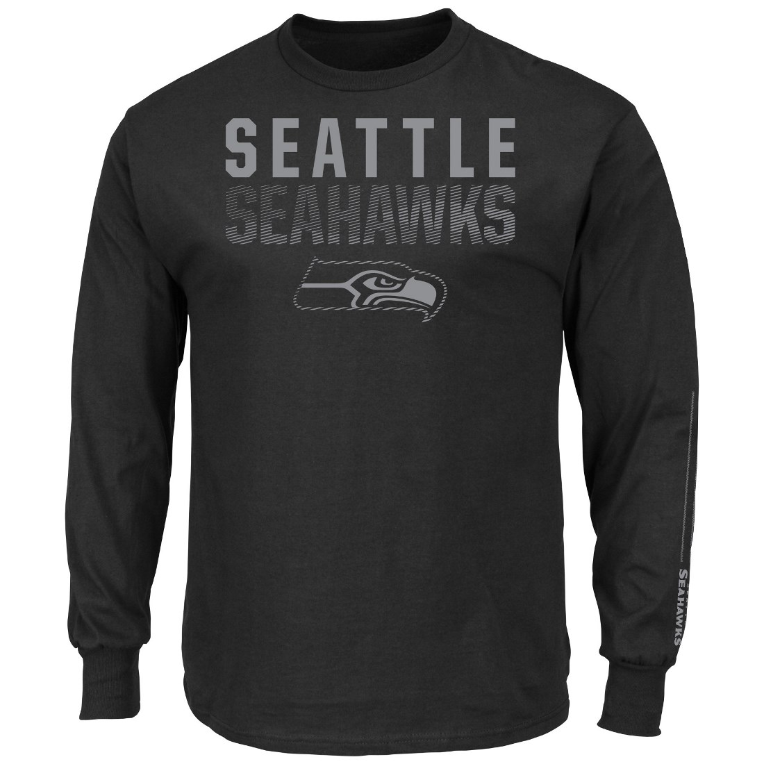 "Seattle Seahawks Majestic NFL ""Written Permission"" Long Sleeve Men's T-Shirt"