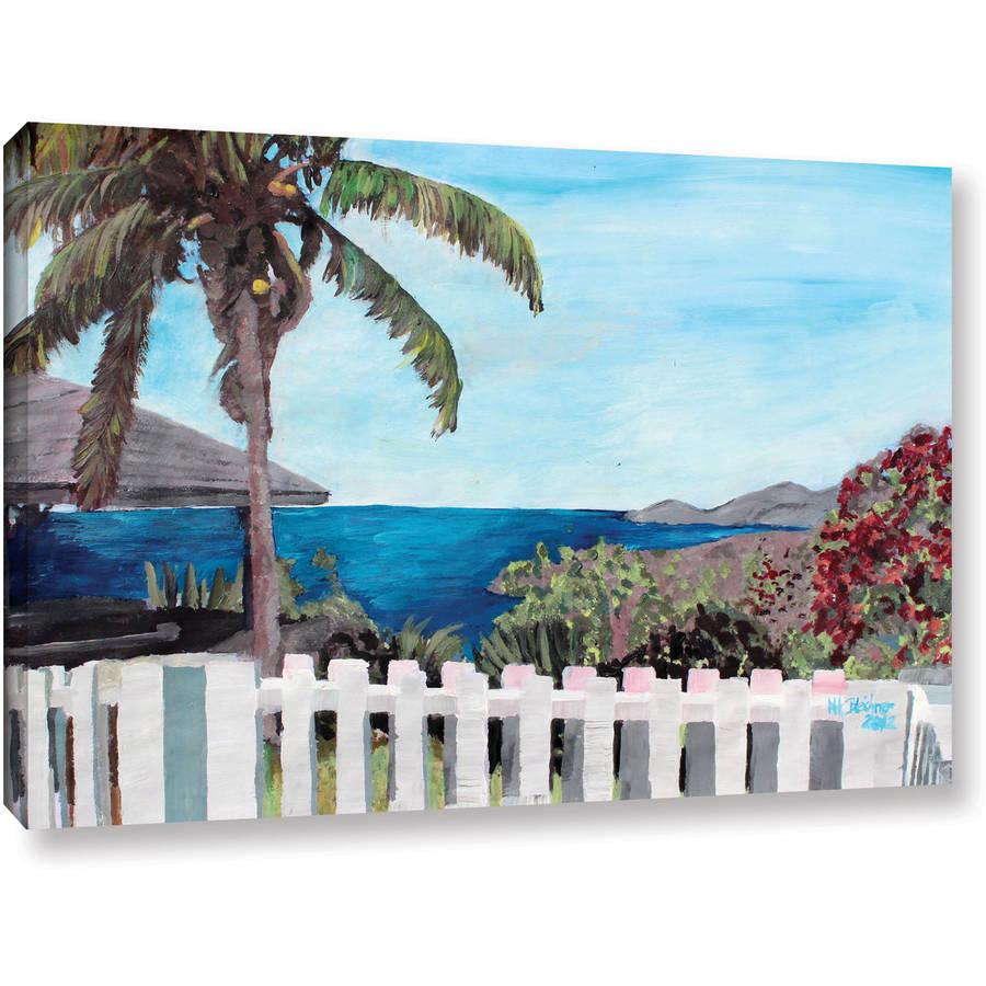 "Martina Bleichner ""English Harbor Antigua Ocean View"" Gallery Wrapped Canvas"