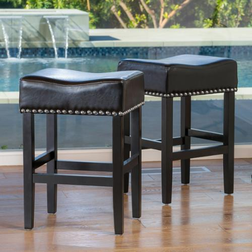 Christopher Knight Home Lisette 26-inch Backless Black Le...