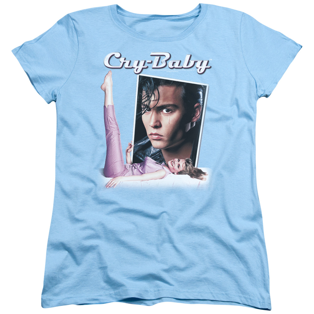 Cry Baby Title Womens Short Sleeve Shirt