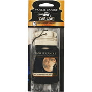 Yankee Candle Car Jar Classic Car Air Freshener, Midsummer's Night (3-Pack)
