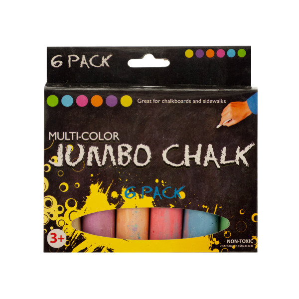 Multi-Color Jumbo Chalk Set (Pack Of 24)