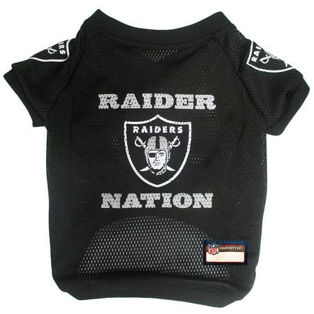 size 40 beaaf 928b3 Pets First NFL Oakland Raiders Raglan Jersey
