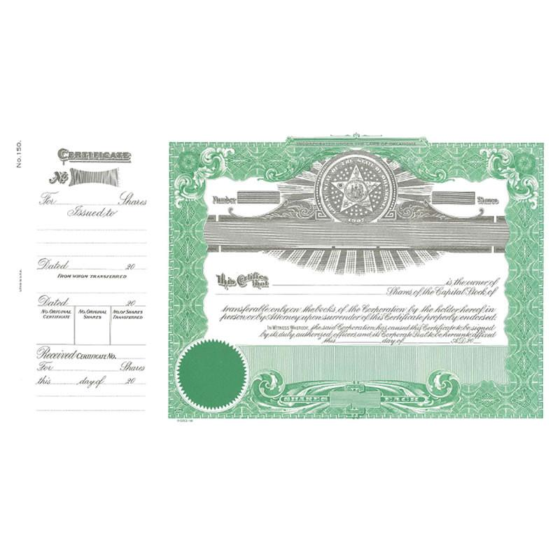 Goes 150 Oklahoma Stock Certificate - Pack of 25