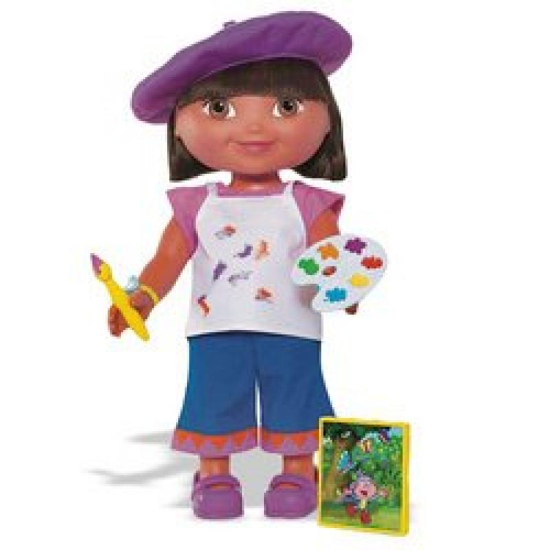 Fisher Price Dora the Explorer: Dress-Up Adventure Artist Outfit by
