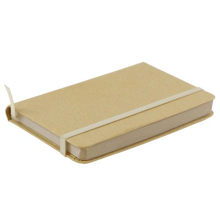 - JAM Paper Hardcover Notebook with Elastic Band - Small Journal - 3 3/4 x 5 5/8 - Brown Kraft - 100 Lined Sheets - Sold Individually