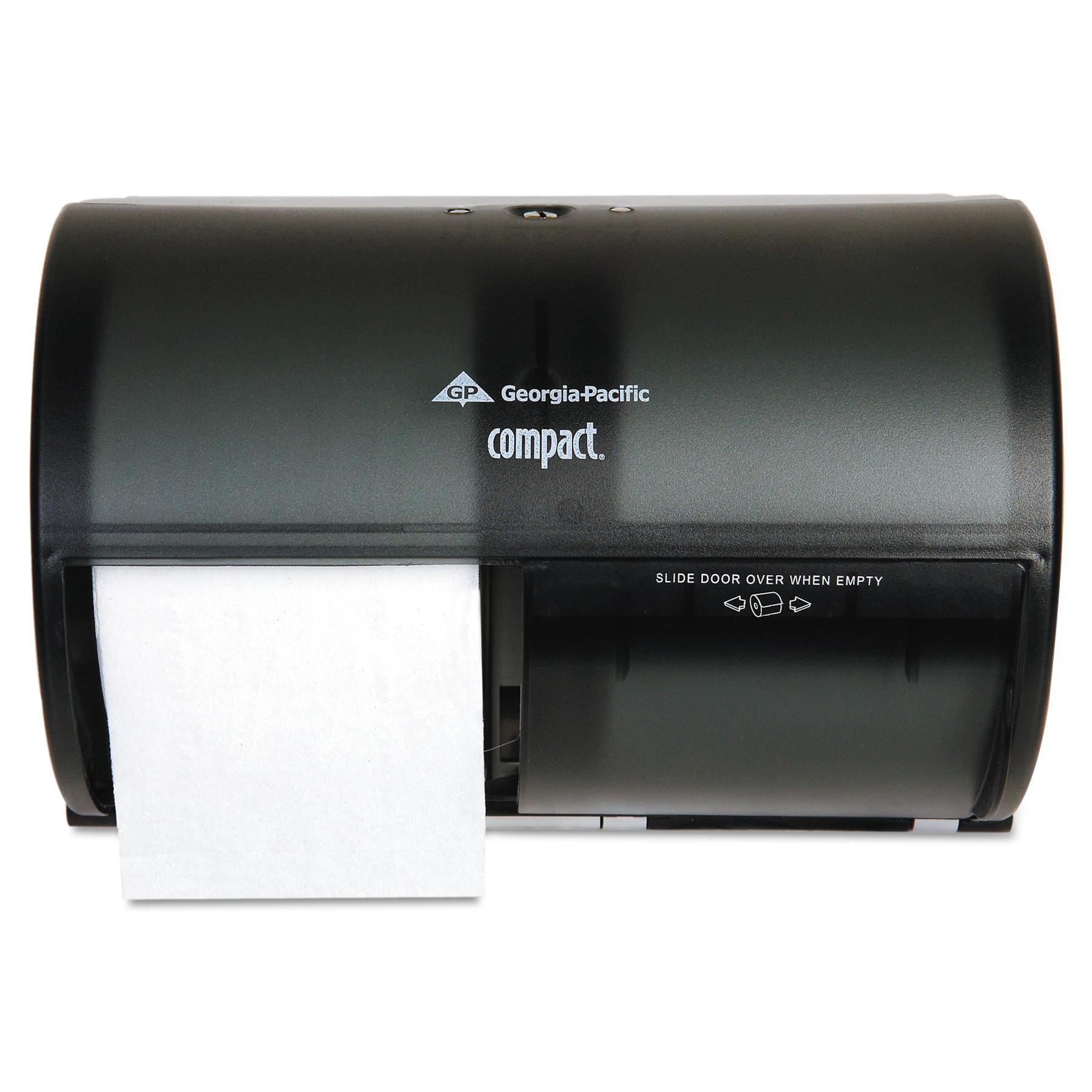 Georgia Pacific Professional Coreless Double Roll Tissue Dispenser, 10 1/8 x 6 3/4 x 7 1/8, Smoke/Gray