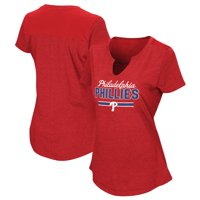 Women's Majestic Red Philadelphia Phillies Plus Size Switch Hitter T-Shirt