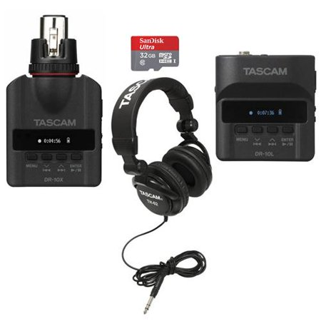 tascam dr 10l digital recorder and lavalier combo bundle with tascam dr 10x plug on micro. Black Bedroom Furniture Sets. Home Design Ideas