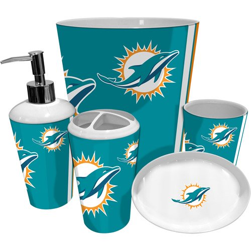 Nfl Miami Dolphins Decorative Bath Collection Shower Curtain