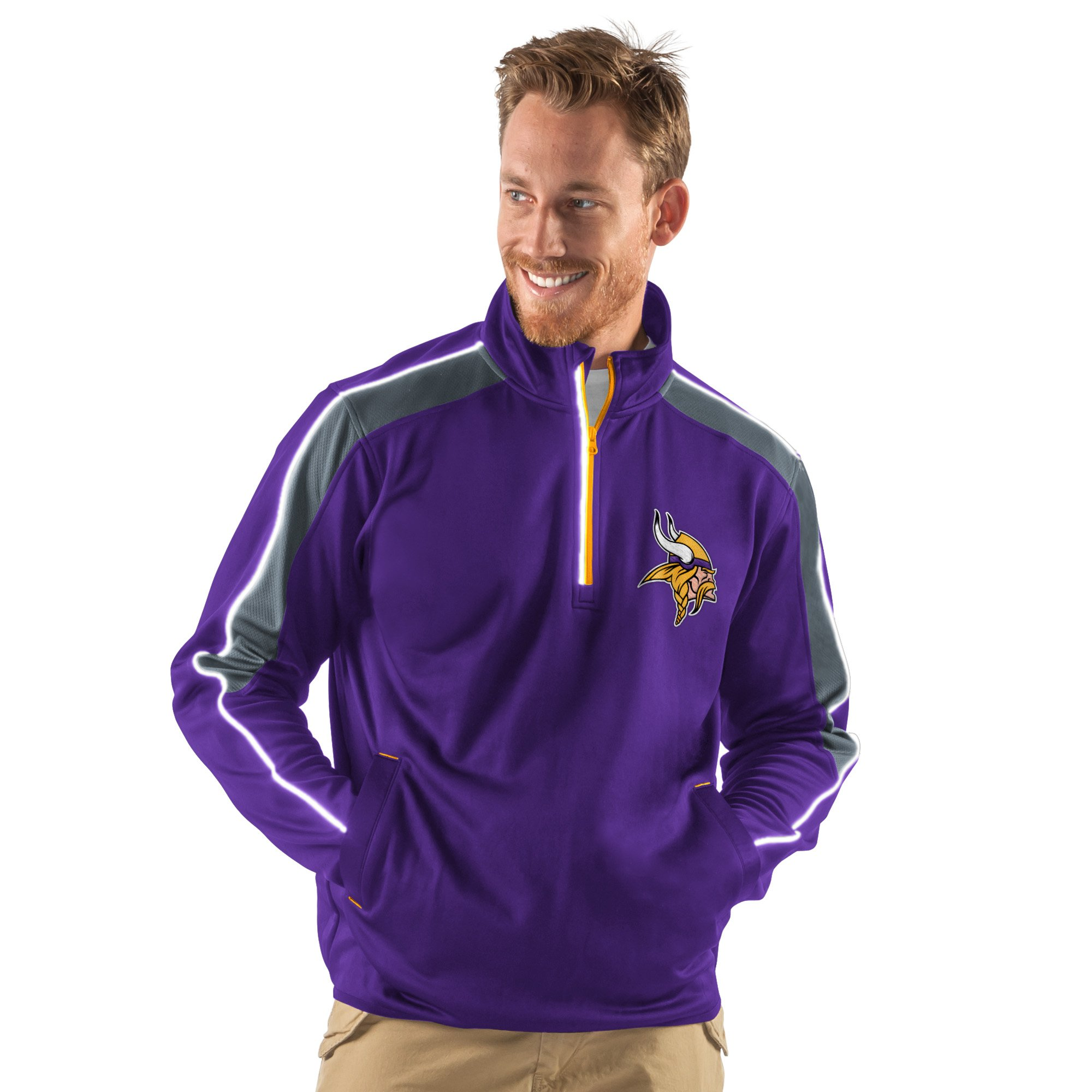 Minnesota Vikings Purple Discover Half Zip Pullover Jacket by G-III Sports