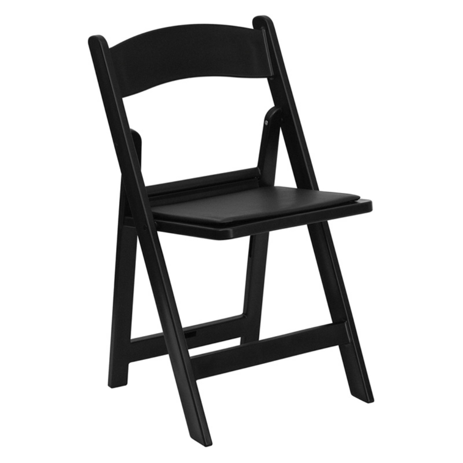 Flash Furniture HERCULES Series 1000 lb. Capacity Resin Folding Chair with Black Vinyl Padded Seat Multiple Colors