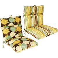 Jordan Manufacturing 45 in. French Edge Outdoor Bench Cushion