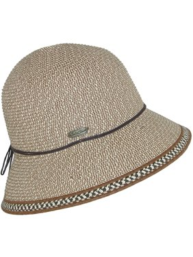 4c56901ae288a Product Image Size one size Women s Straw Cloche with 3 Inch Brim and  Edging Design