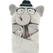 Hudson Baby Woven Terry Animal Hooded Towel, Sophisticated Elephant
