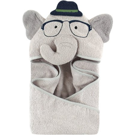 Hudson Baby Woven Terry Animal Hooded Towel, Blue Elephant](Towels For Boys)
