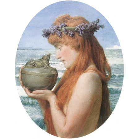 Pandora Art (Framed Art for Your Wall Alma -Tadema, Sir Lawrence - Pandora 10 x 13 Frame )