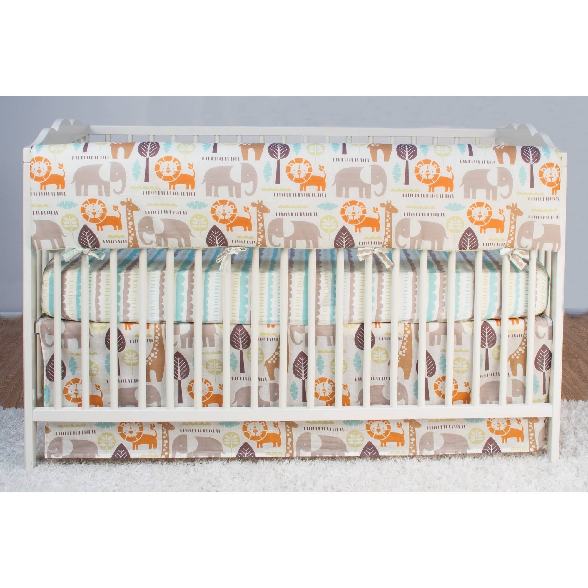 Poppi Living Safari Premium Cotton Crib Railing