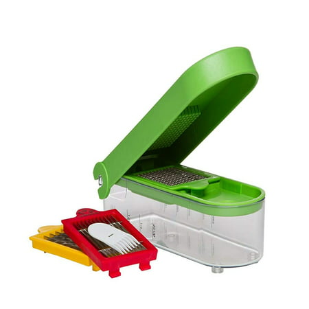 Prepworks by Dice and Slice Chopper, 3 Interchangeable Blades, Veggie Chopper, Fruit Chopper, Onion Chopper, Non-Skid Base, Set includes:.., By Progressive