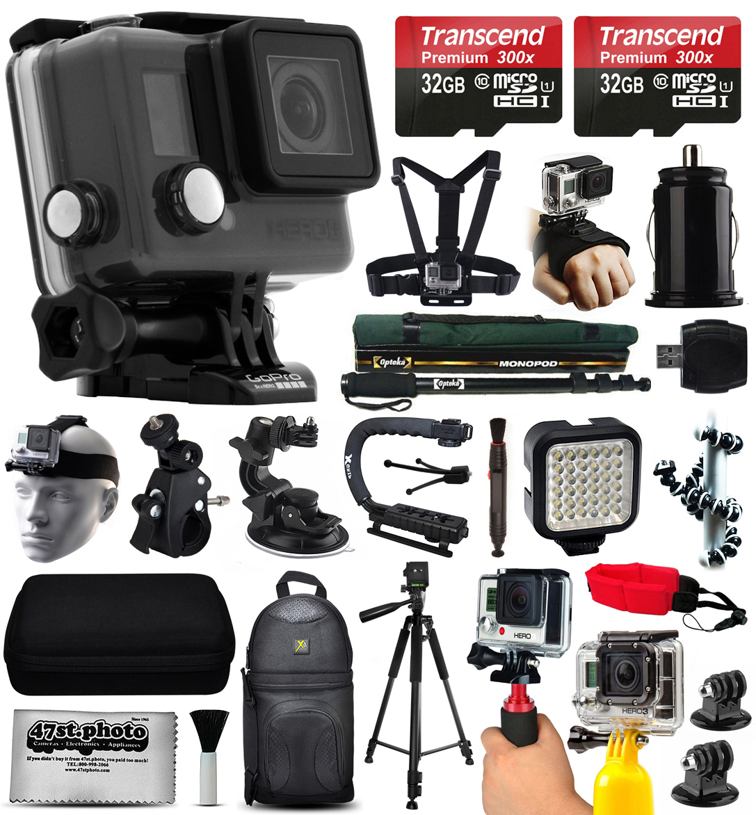 GoPro HERO+ LCD Camera Camcorder (CHDHB-101) with Ultimat...