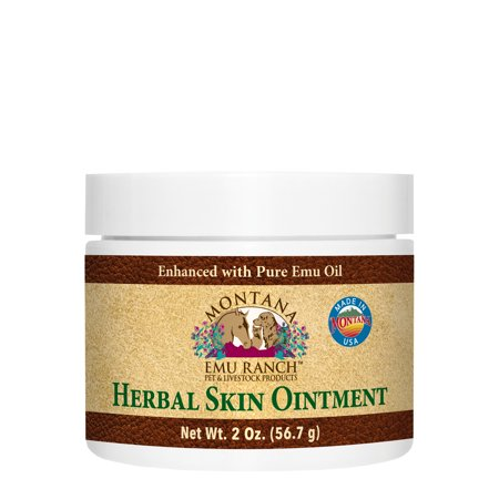 Herbal Skin Ointment for Pets Montana Emu Ranch Co. 2 oz Ointment Homeopathic Remedies Pets