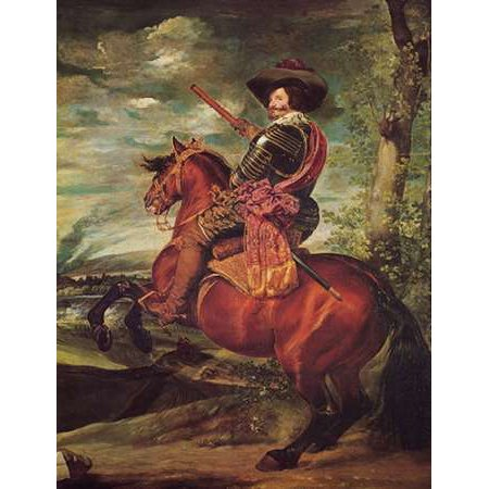 Equestrian Portrait Of The Count Duke Of Olivares Poster Print by Diego Velazquez (18 x (Equestrian Portrait)