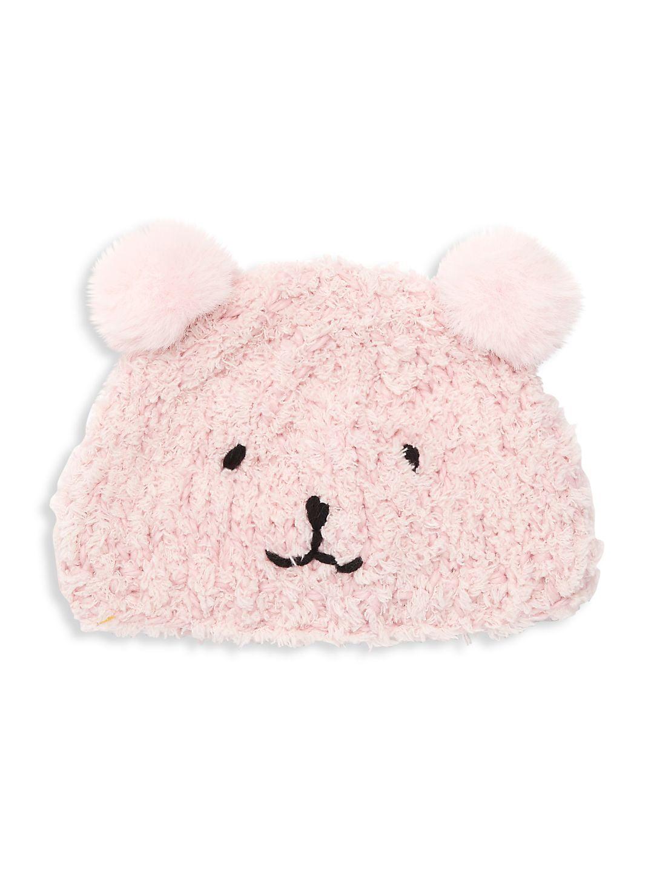 Faux Fur Knit Bear Hat