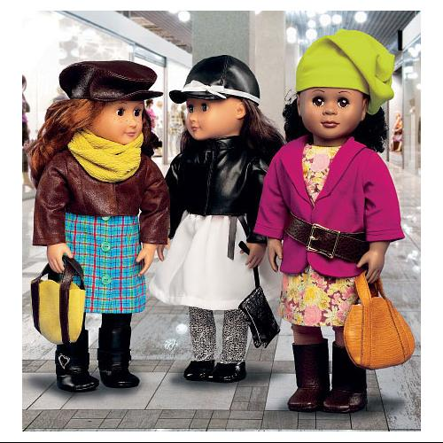 Clothes and Accessories for 18 Doll - One Size Only Pattern