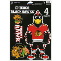 "Chicago Blackhawks WinCraft 11"" x 17"" Multi-Use Decal Sheet - No Size"