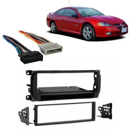 Fits Dodge Stratus Coupe 2002-2006 Single DIN Harness Radio Install Dash Kit Dodge Dakota Radio Wiring Harness