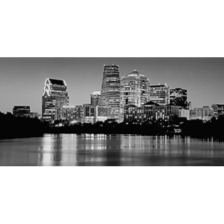 USA Texas Austin Panoramic view of a city skyline Poster Print (Party City Austin Texas)