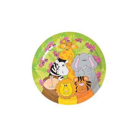 Zoo Animal Birthday Dessert Plates for Birthday - Party Supplies - Print Tableware - Print Plates & Bowls - Birthday - 250 Pieces (Zoo Plates)