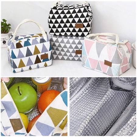 Lunch Bag For Women Kids Men Insulated Canvas Box Tote Bag Thermal Cooler Food Lunch Bags Picnic Food Bag - image 1 of 2